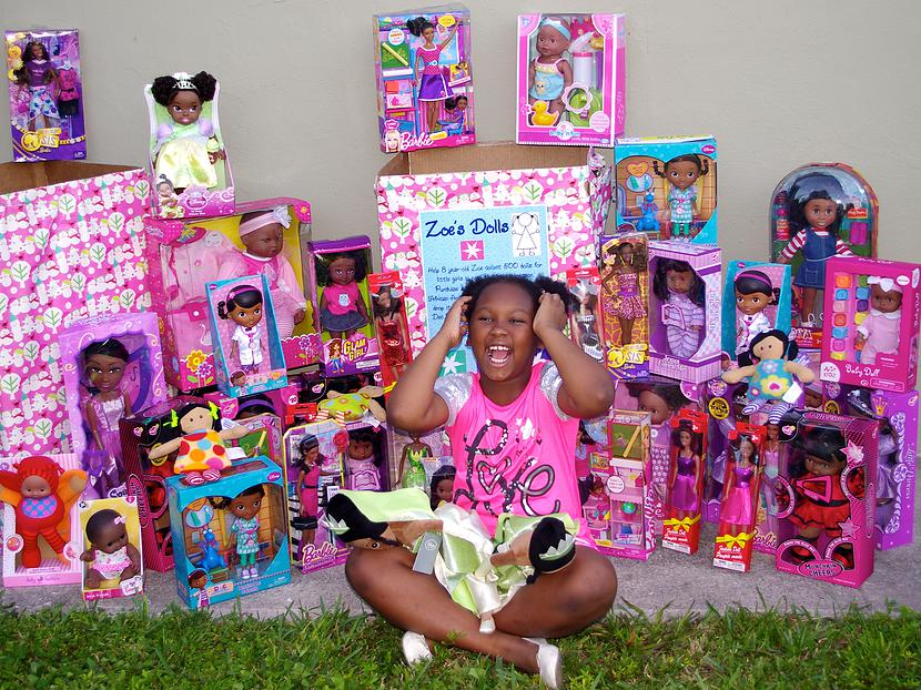 Zoe with Dolls